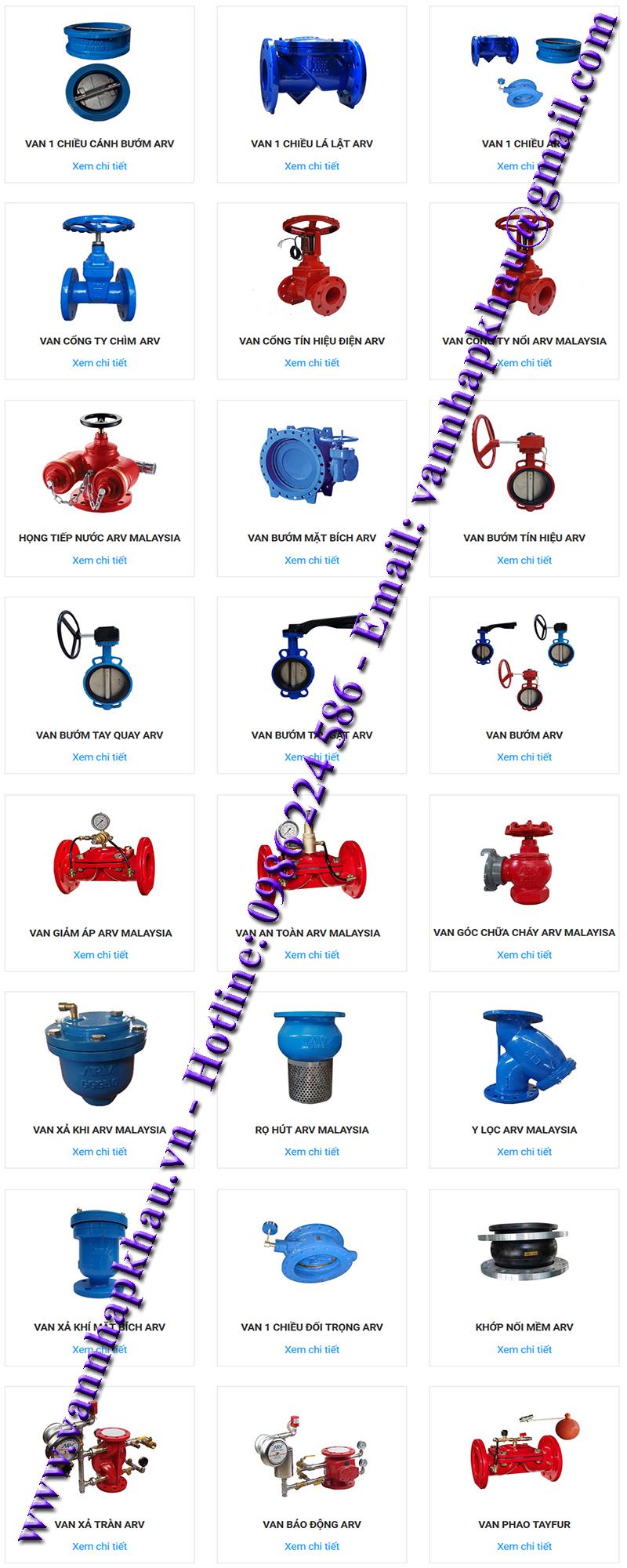 Nhà cung cấp van malaysia thương hiệu Van ARV NMalaysia giá rẻ